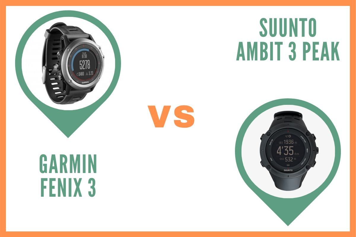 Garmin Fenix 3 ou Suunto Ambit 3 peak comparatif