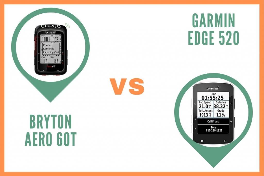 Gps Vélo Bryton Aero 60T ou Garmin Edge 520 Comparatif