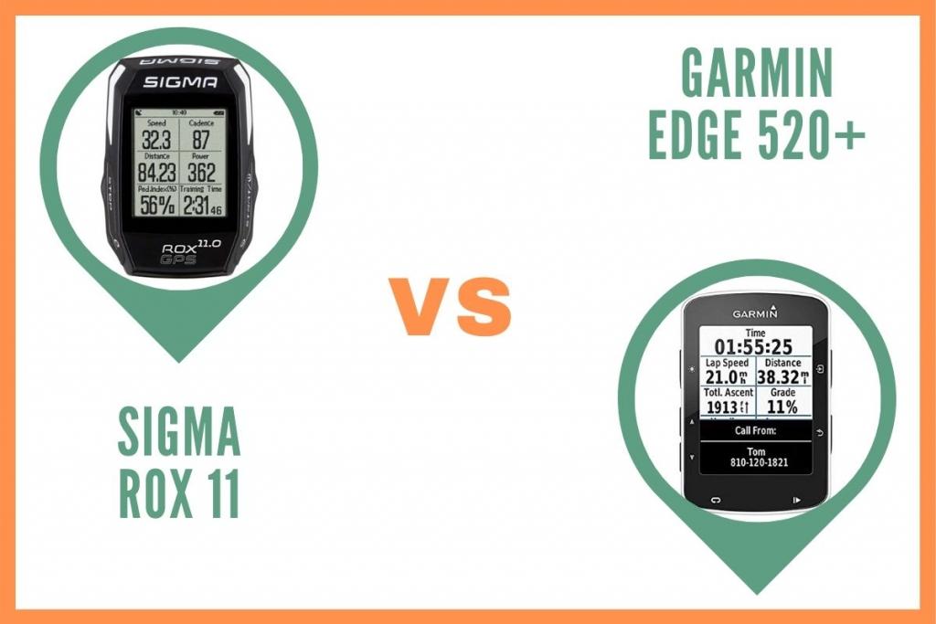 Sigma Rox 11 ou Garmin Edge 520 Plus Comparatif
