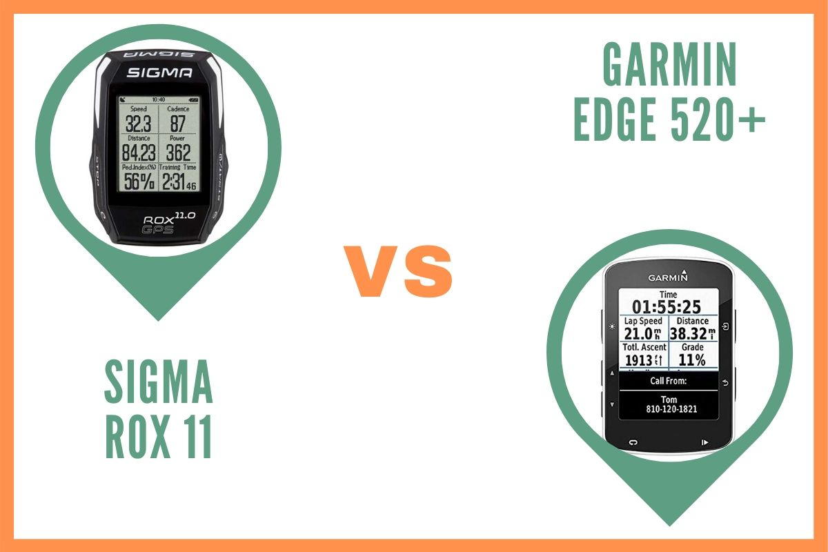 Sigma Rox 11 ou Garmin Edge 520 Plus Comparatif