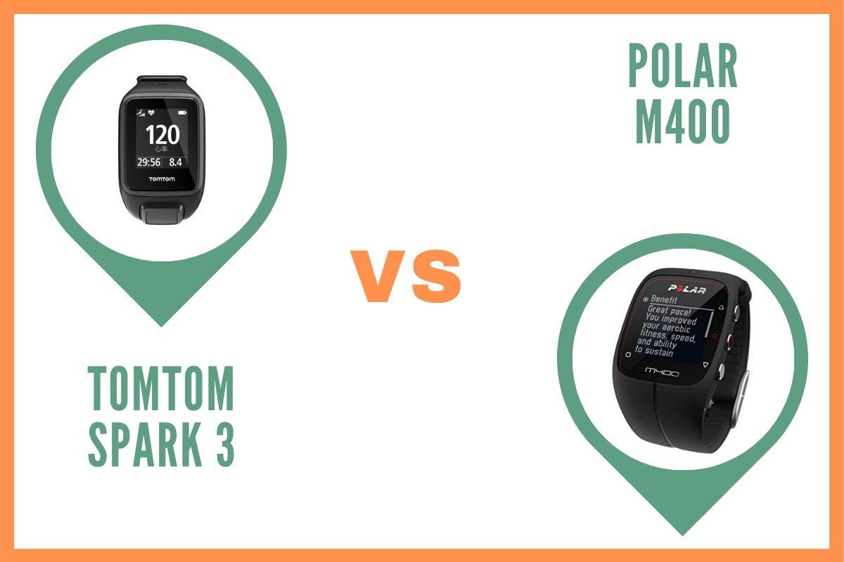 TomTom Spark 3 ou Polar m400 Comparatif